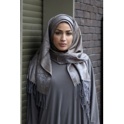 Pashmina Luxe  Taupe et Gris