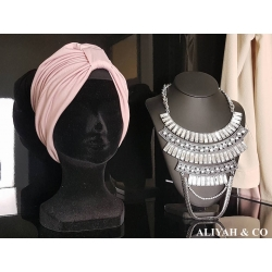 Turban Plissé Salwa Rose