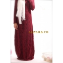 Robe Candice Bordeaux