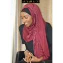 Hijab Jersey Mariam Bordeaux